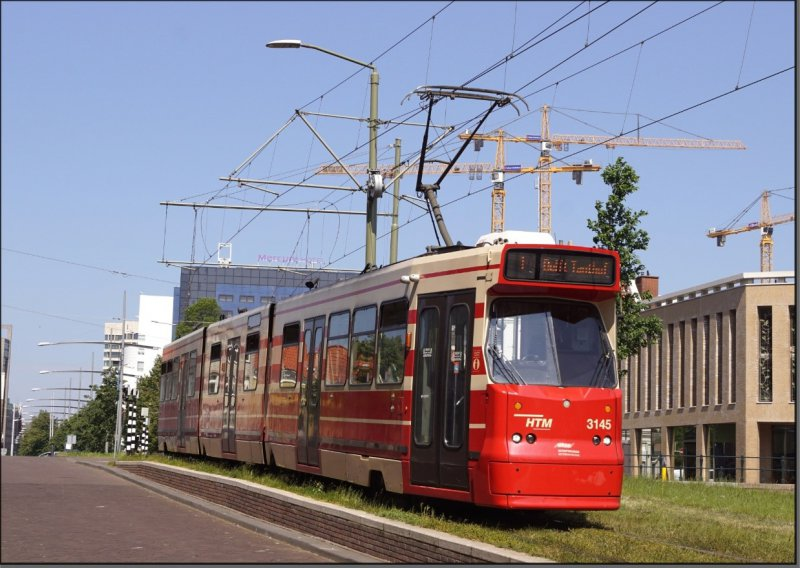 Postkarte Den Haag (Niederlande) - GT8 Gelenktriebwagen 3145