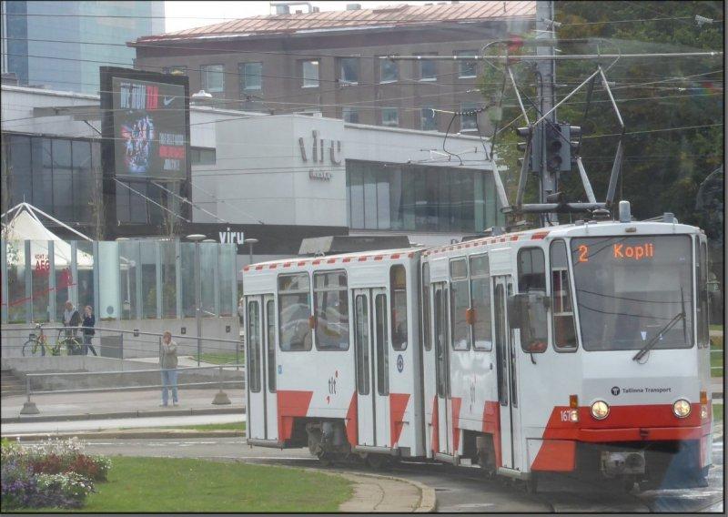 Postkarte Tallinn (Estland) - KT4D-M Gelenktriebwagen 167