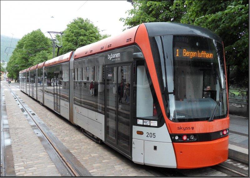 Postkarte Bergen (Norwegen) - Variobahn TW-205
