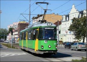 Postkarte Elblag [Elbing] (Polen] - GT6 Gelenktriebwagen TW-223