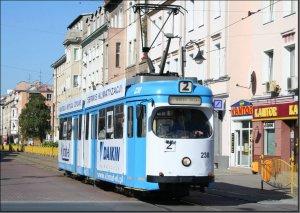Postkarte Elblag [Elbing] (Polen] - GT6 Gelenktriebwagen TW-238