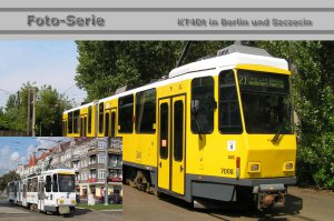 Foto-Serie - KT4Dt-mod - Gelenktriebwagen in Berlin und Szczecin [Stettin] (Polen)