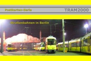 Postkarten-Serie - Straßenbahnen in Berlin mit 25 Motivkarten