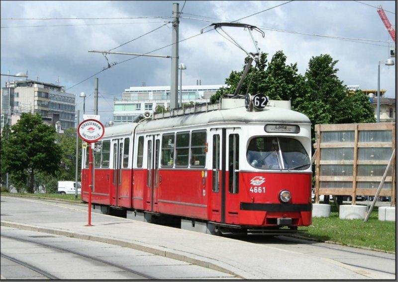 Postkarte Wien (Österreich) - Wiener Linien GT6 E1 TW-4661
