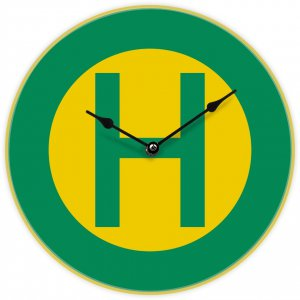 Uhr mit Straßenbahnmotiv - Haltestelle