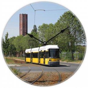 Uhr mit Straßenbahnmotiv - Berlin GTZO Triebwagen 2232