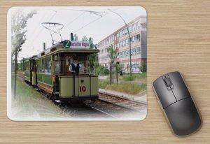 Mousepad mit Straßenbahnmotiv - Historischer Triebwagen 10