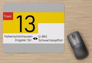 Mousepad - Linienschild BVB Berlin Linie 13