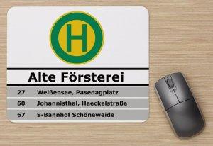 "Mousepad - Haltestelle BVG Berlin ""Alte Försterei"""