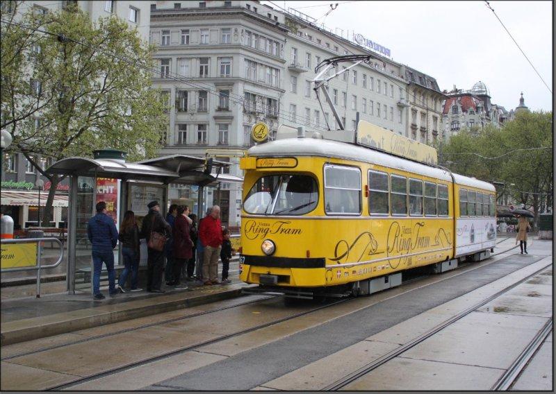 Postkarte Wien (Österreich) - Vienna-Ring-Tram Triebwagen 4867